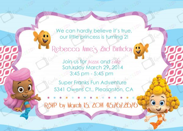 Bubble Guppie Digital Invitation